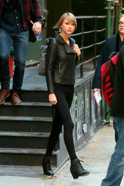 shoes black high heel boots jacket black shoes taylor swift