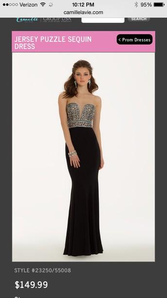 dress nude black dress