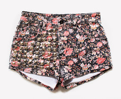 Lita Floral Cheeky Half Studded Shorts | RUNWAYDREAMZ