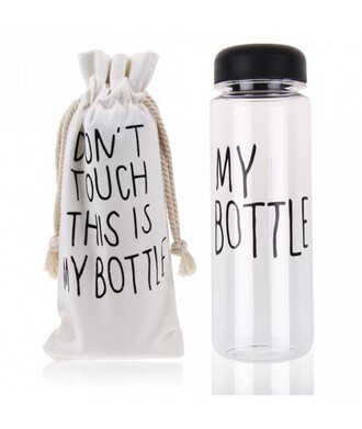 home accessory cool fashion water bottle stylish sporty gym white bag quote on it it girl shop