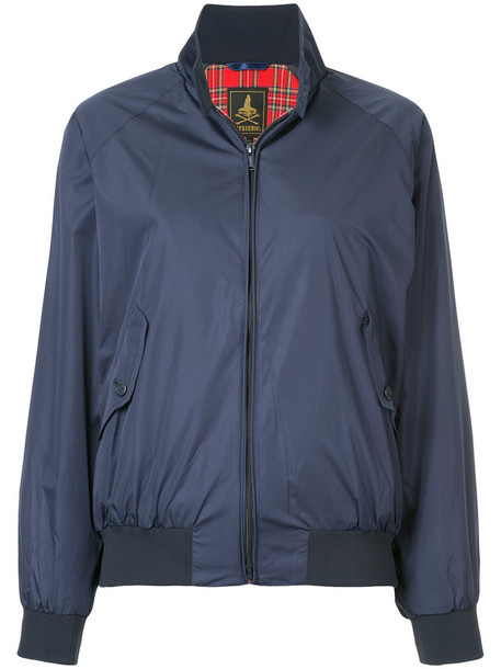 Hysteric Glamour - stand-up collar bomber jacket - women - Polyester/Rayon - S, Blue, Polyester/Rayon