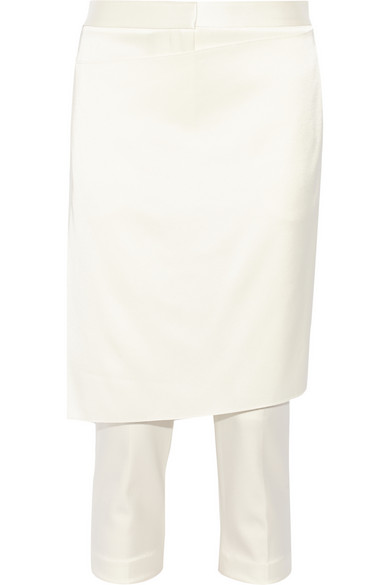 3.1 Phillip Lim | Skirt-effect satin straight-leg pants | NET-A-PORTER.COM