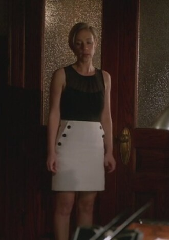 skirt black top white liza weil pencil skirt bonnie winterbottom how to get away with murder