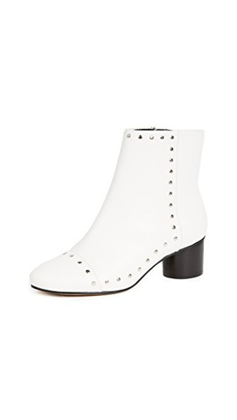 Rebecca Minkoff heel ankle boots white shoes