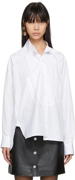 LOEWE shirt asymmetric shirt short white top