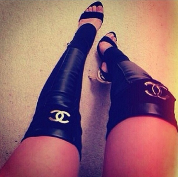 Socks Chanel Leg Warmers Fall Outfits Boots Wheretoget
