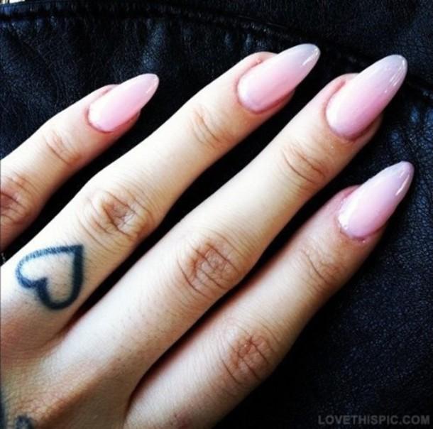 nail polish, pink, long, nails - Wheretoget