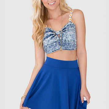 Tiffany Skater Skirt - Blue on Wanelo