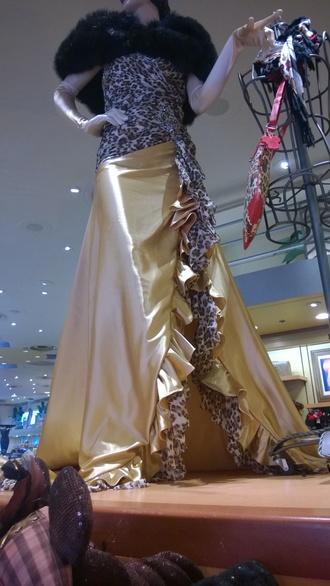 dress cheetah print gold gold dress