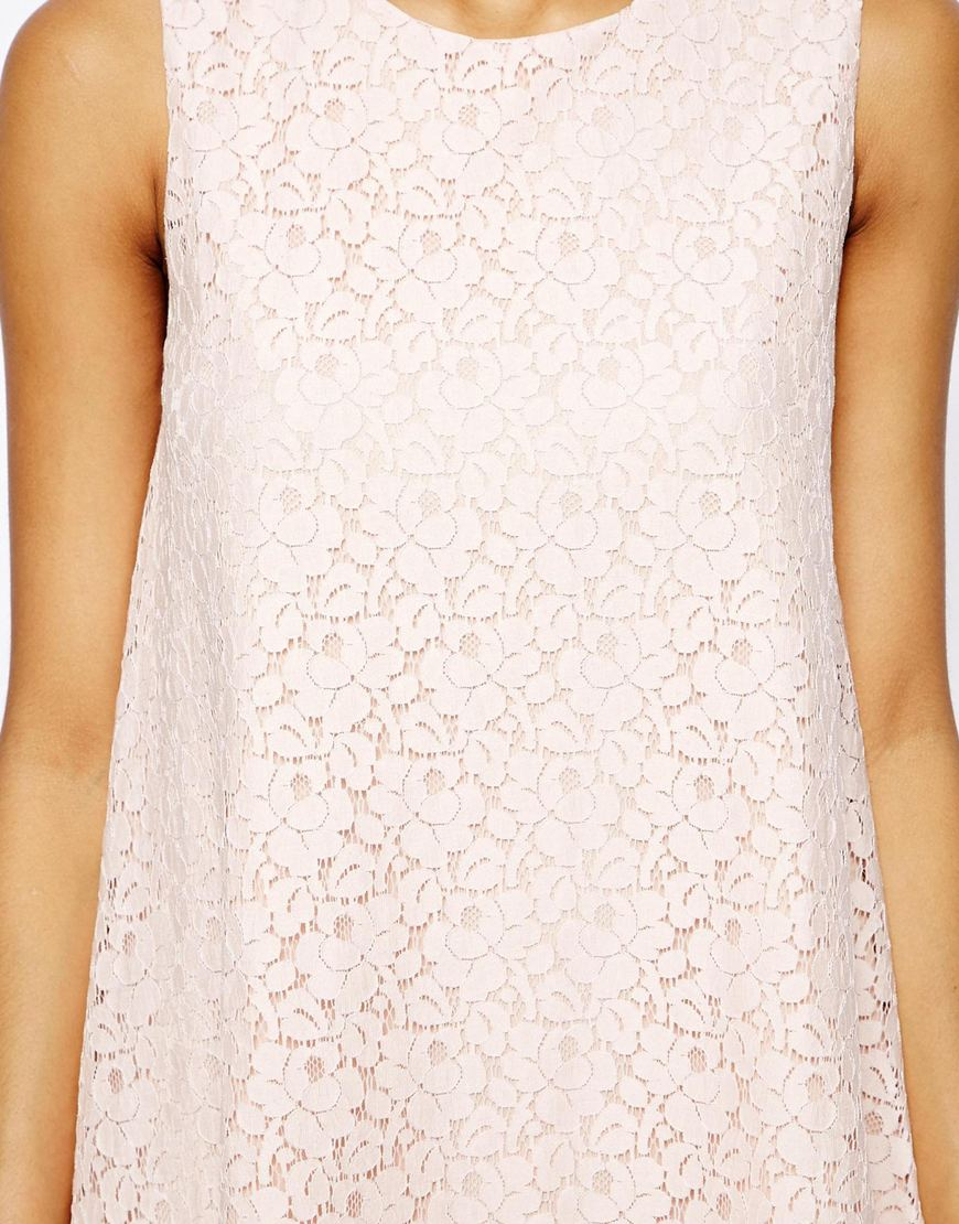 True Decadence Sleeveless Lace Swing Dress at asos.com