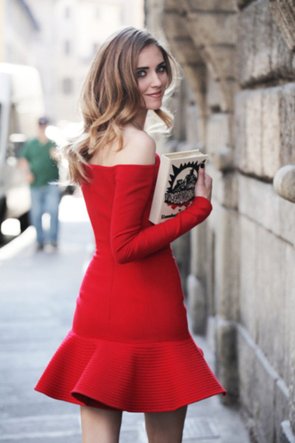 dress blogger red dress streetstyle