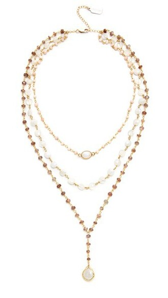 midi opal necklace pink brown jewels