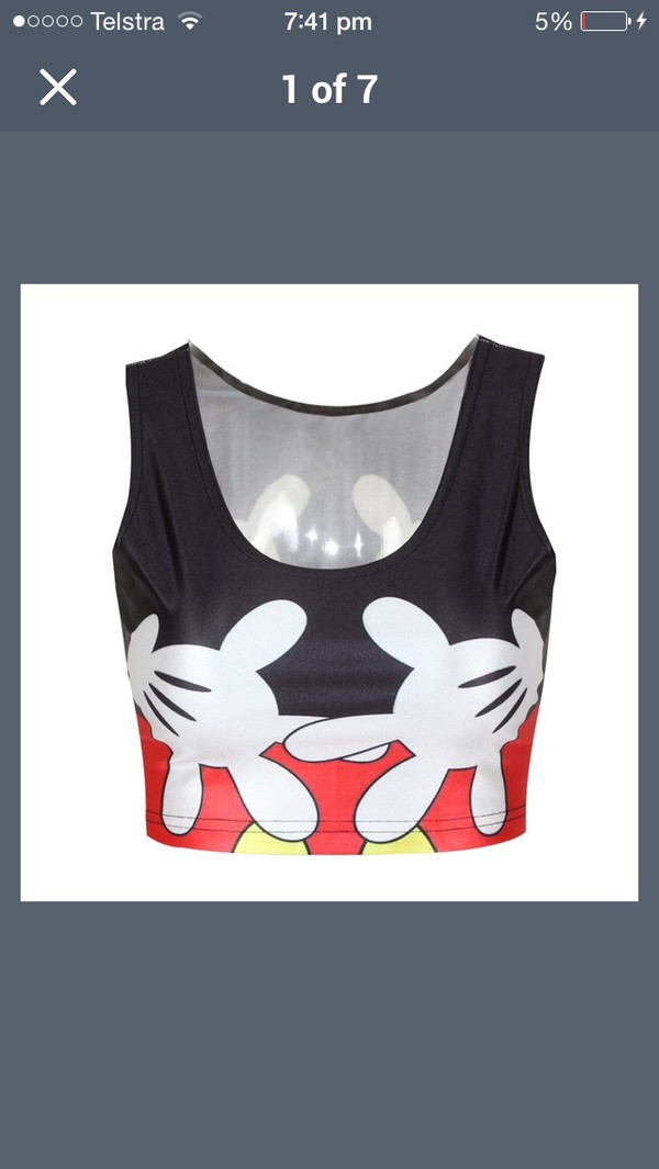 top crop tops mickey mouse disney cute