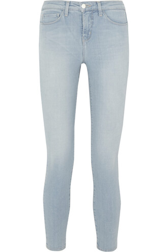 jeans skinny jeans cropped high denim light