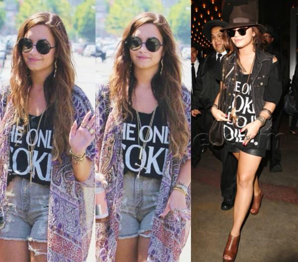 t-shirt demi lovato the only coke i do is diet