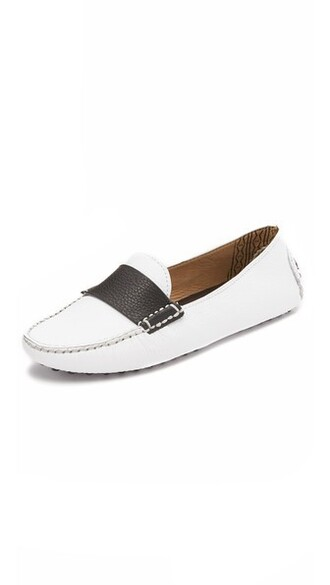 moccasins white black shoes