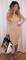 Azzura nude high neck midi dress
