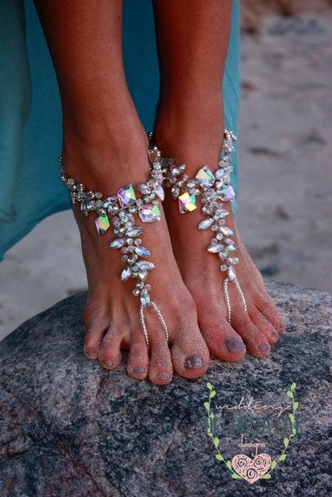 7792418c9ca Beach Wedding Barefoot Sandal