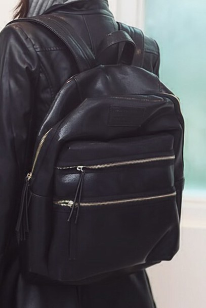 61f7f1f8566 bag school bag black bag backbag cuir black the black bag black backpack  black bag with