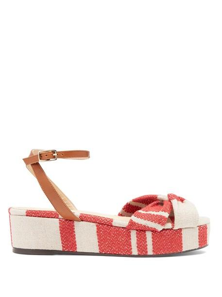 CASTAÑER sandals flatform sandals red shoes