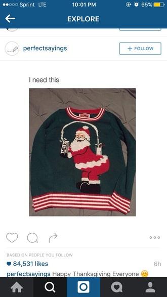 sweater santa christmas kim kardashian red green