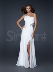 dress,side split white chiffon dress,floor lenth and ahve sequins,one- shoulder neckline and natural waistline