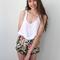 Black vintage insp floral high waisted knickers shorts pom pom hemline 6 8 10 12 | ebay