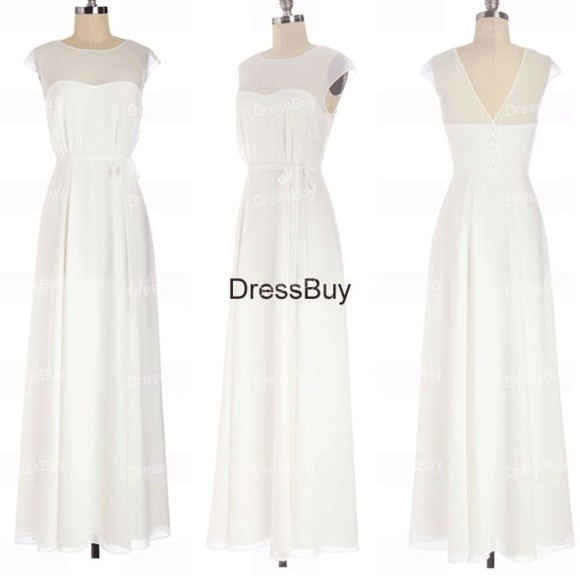 wedding dress summer wedding dress chiffon wedding dress bridesmaid dress wedding guest dress