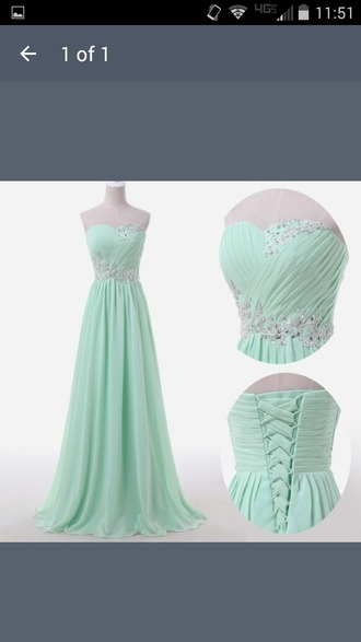 dress strapless dress seafom green