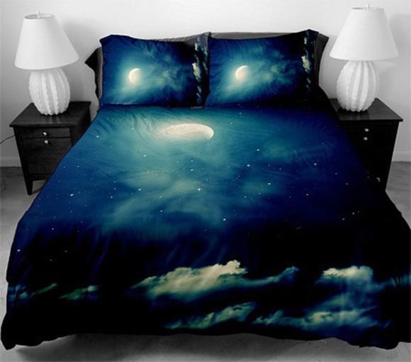 galaxy print bedding pillow