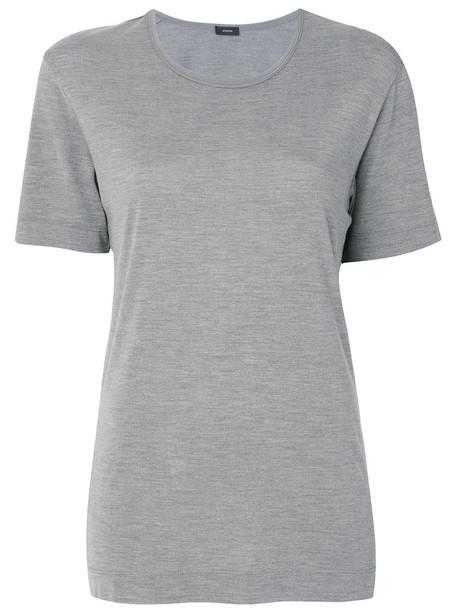 Joseph t-shirt shirt t-shirt women silk grey top