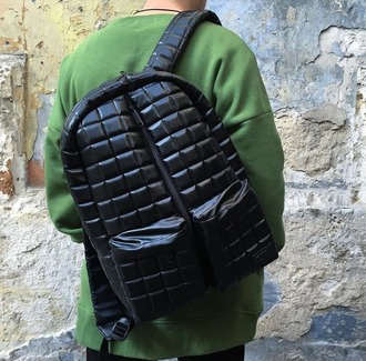 bag backpack urbanbackpack urbanbag urbanrucksack stylishbackpack stylishbag stylishrucksack menswear streetwear black rucksack quilted bag quilted accessories