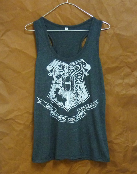 top hogwarts tank top cute tank top racerback tank top summer tank top cute clothing workout shirt