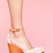 Bette platform wedge - ivory in  collections blinded by the light at nasty gal