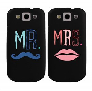 Amazon.com: mr and mrs couples matching cell phone cases for iphone 4, iphone 5, iphone 5c, galaxy s3, galaxy s4, galaxy s5 in black: cell phones & accessories