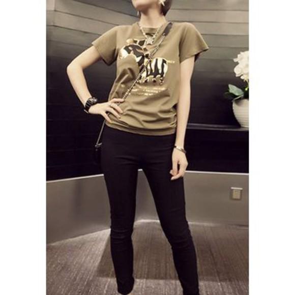 zebra print clothes t-shirt