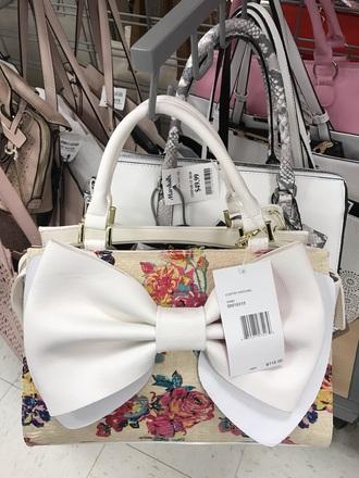 bag bow floral white betsey johnson summer
