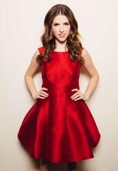 dress,red dress,prom dress,anna kendrick