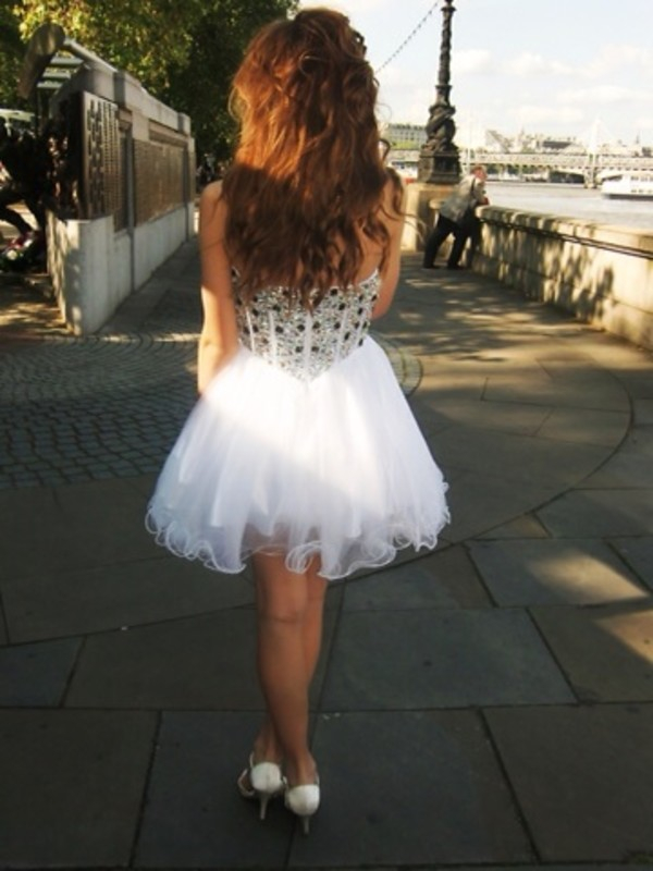 dress white dress prom dress white short dress short prom dress tumblr tumblr girl short