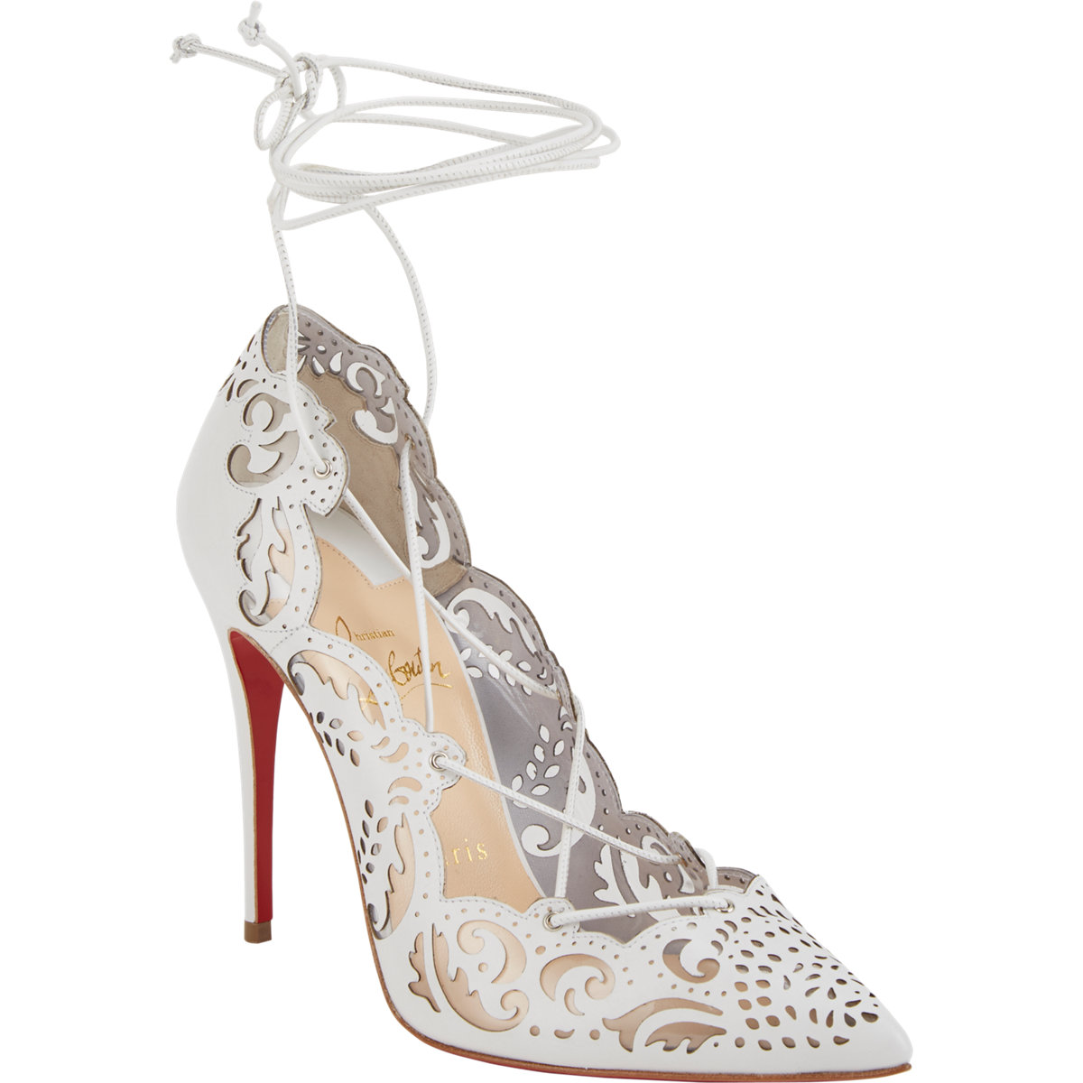 impera laser cut christian louboutin pumps