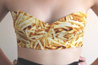 food underwear crop tops bralette