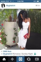top,white,lace dress,lace,crochet dress,crotchet lace sew,lily ghalichi,dress,pretty,two-piece,skirt,style