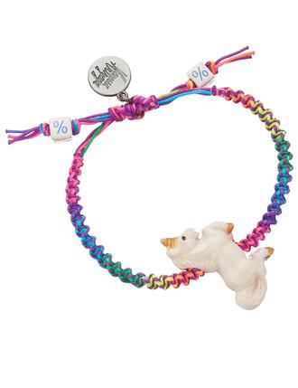 friendship bracelet rainbow unicorn jewels