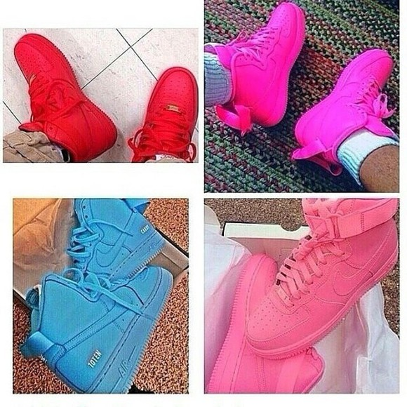shoes blue shoes red shoes air forces
