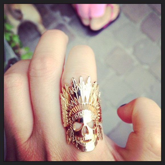 native american jewels ring skull