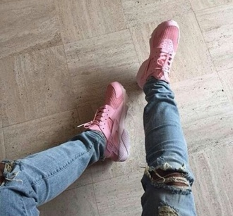shoes huarache sneakers pink pink sneakers cute