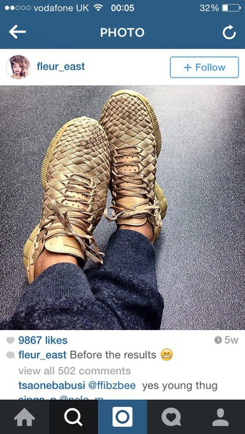 shoes nike shoes gold woven