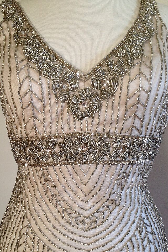 Sue Wong Art Deco Beaded Embellished Bridal Wedding