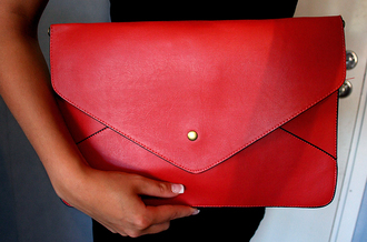 bag red bag classy wishlist pouch