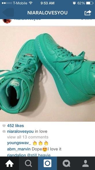 shoes teal nike sneakers